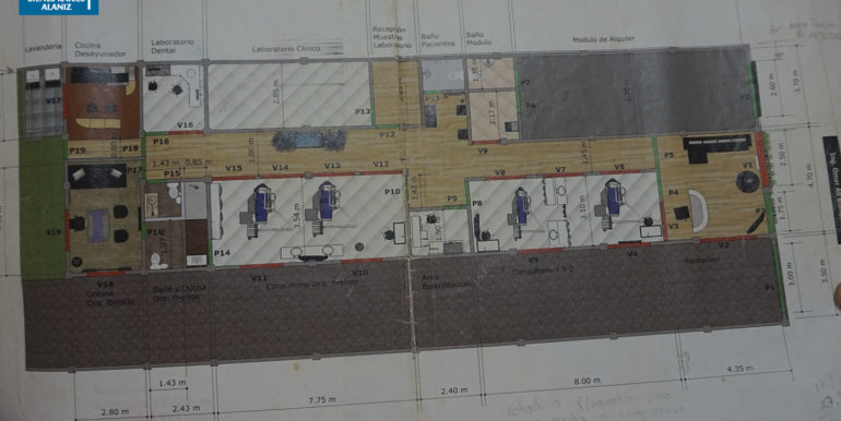 plano arquitectonico clinica chinandega
