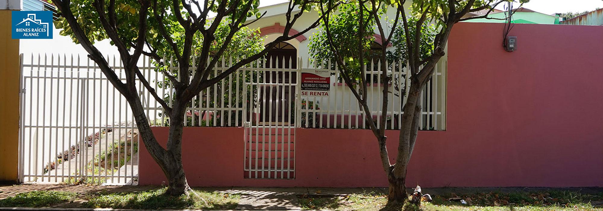 SE RENTA CASA EN RESIDENCIAL ALTOS DE NEJAPA, CENTRO DE MANAGUA